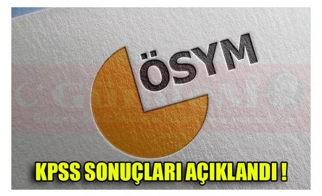 KPSS SONUÇLARI AÇIKLANDI !