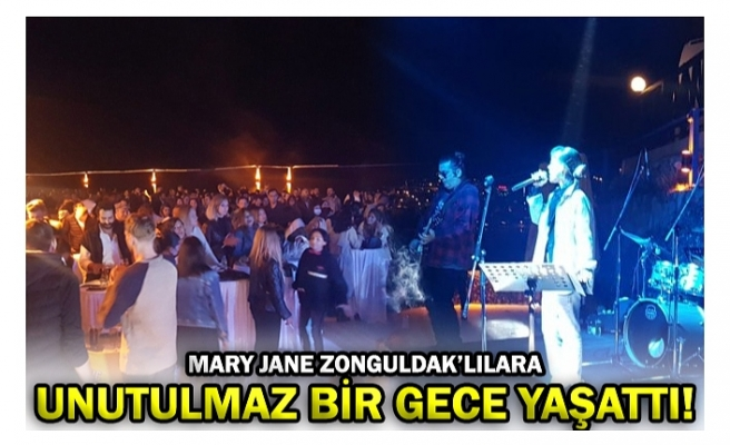 MARY JANE ZONGULDAK'LILARA UNUTULMAZ BİR GECE YAŞATTI!