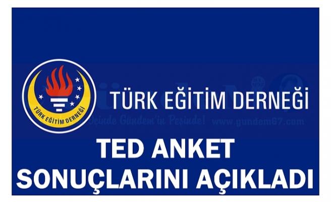 TED ANKET SONUÇLARINI AÇIKLADI