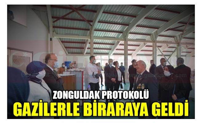 ZONGULDAK PROTOKOLÜ GAZİLERLE BİRARAYA GELDİ