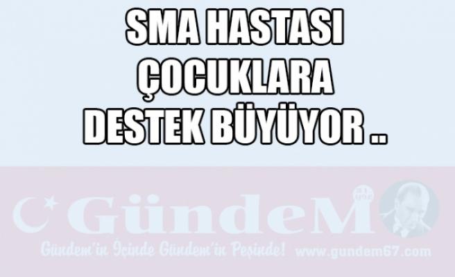 ZONGULDAK'TA SMA HASTASI ÇOCUKLARA DESTEK BÜYÜYOR..