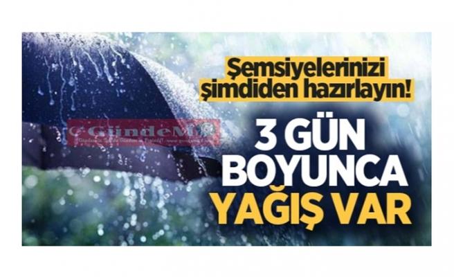 Şemsiyelerinizi şimdiden hazırlayın! Zonguldak'da 3 gün boyunca yağış var