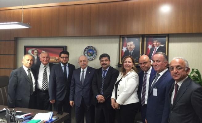 Ankara zonguldaklılar derneği Özbakır'ı ziyaret etti