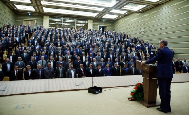 Cumhurbaşkanı Erdoğan,Muhtarlarlarla bir araya geldi