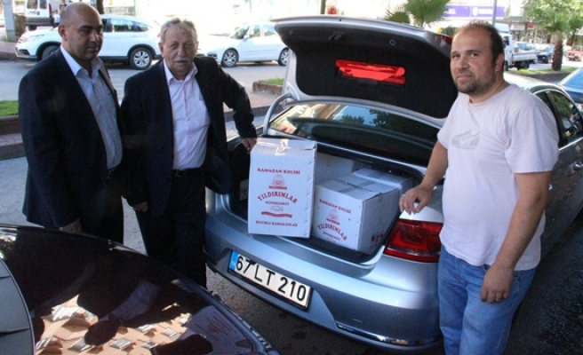 Verem Savaş´tan 100 aileye kumanya yardımı