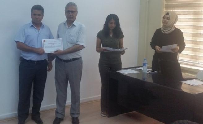 Tarım kurslarına destek olanlara takdir belgesi verildi