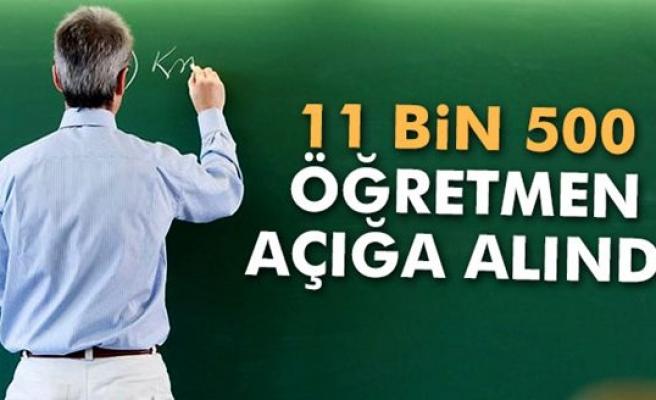 11 bin 500 öğretmen açığa alındı