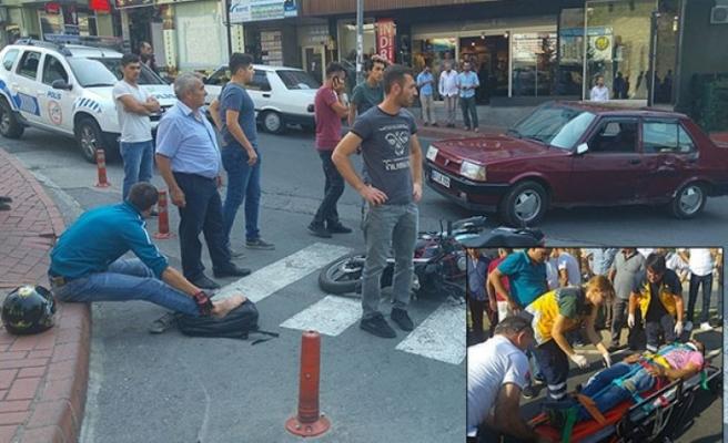 Ereğli´de Yarım saat içinde 2 ayrı  motosiklet kazası