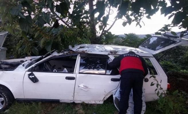 Alaplı´da otomobil takla attı: 1 yaralı