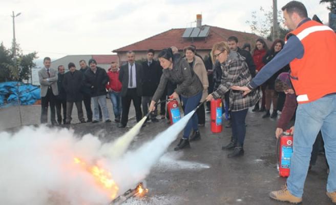 İl Sağlık Müdürlüğü'nde yangın tatbikatı yapıldı