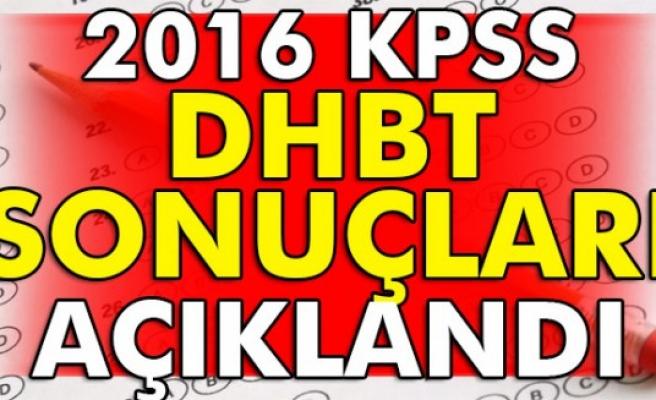 KPSS DHBT sonuçları açıklandı..