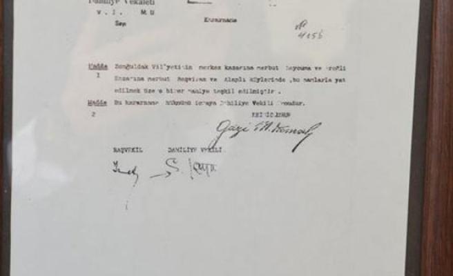 Alaplı Tarihinde Mustafa Kemal Imzası