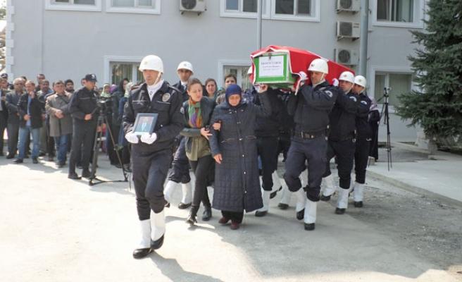 Zonguldaklı polise son görev