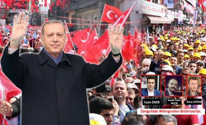 Zonguldak'ta Erdoğan'a sevgi seli…