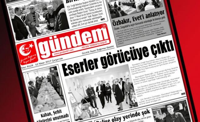12 Nisan 2017 Çarşamba Gündem Gazetesi