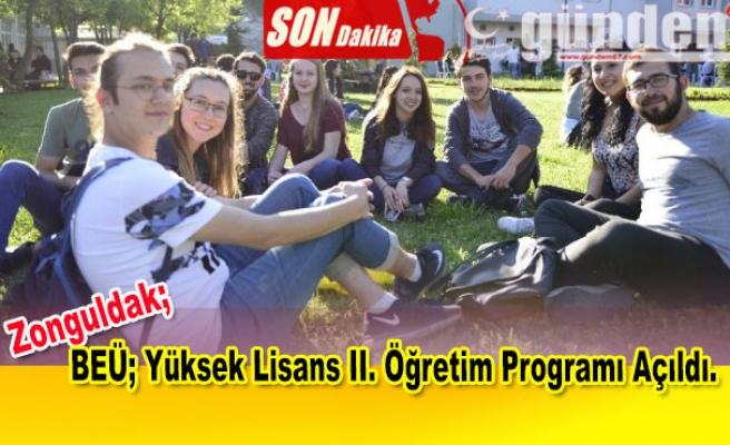 BEÜ; Yüksek Lisans II. Öğretim Programı Açıldı