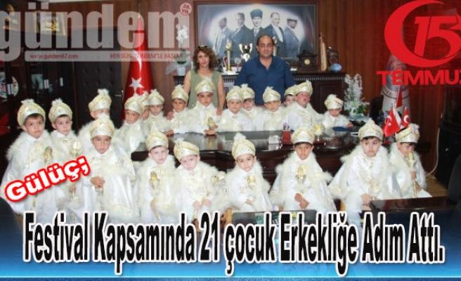 Festival Kapsamında 21 çocuk Erkekliğe Adım Attı.