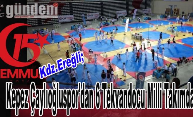 Çaylıoğluspor'dan 6 Tekvandocu Milli Takımda