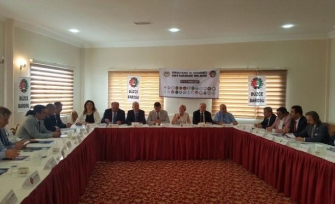Karadeniz Baro Başkanları 28 Baro başkanı katıldı.