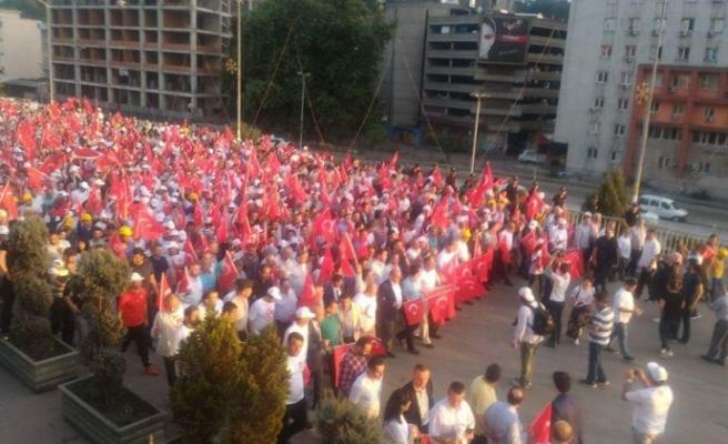 Zonguldak, Ereğli ve Alaplı'da 15 Temmuz Coşkusu