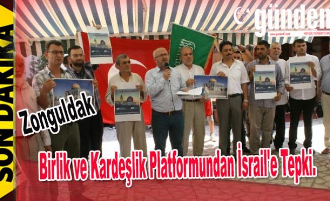 Devrek'te Birlik ve Kardeşlik Platformundan İsrail'e Tepki