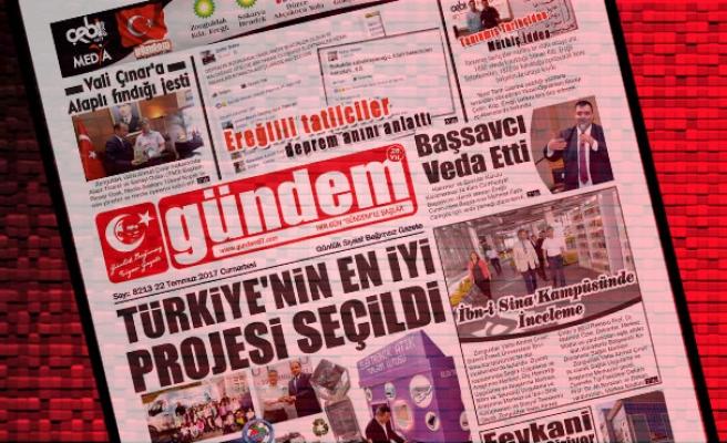 22 Temmuz 2017 Gündem Gazetesi