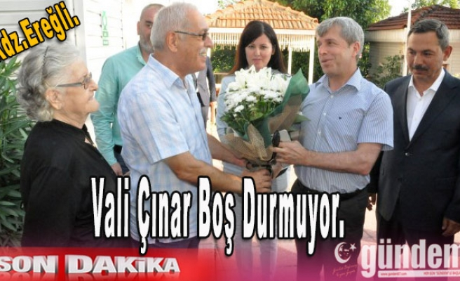 Vali Çınar boş durmuyor