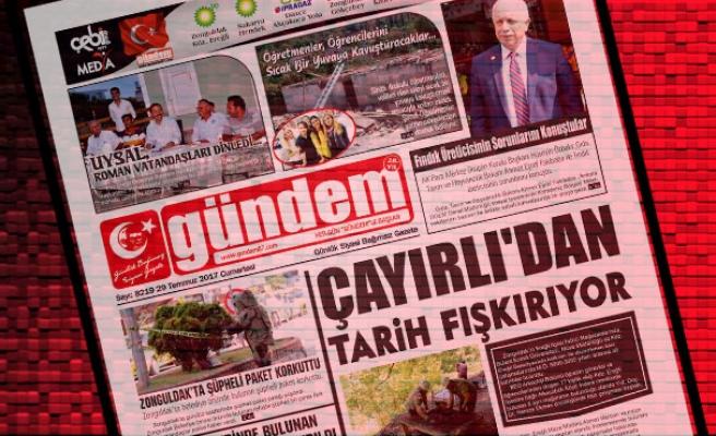 29 Temmuz 2017 Gündem Gazetesi