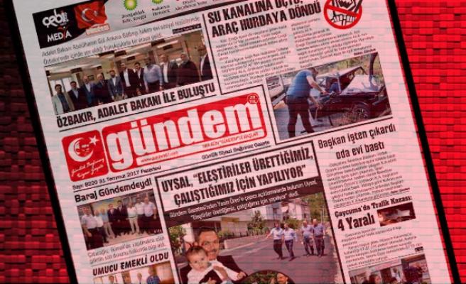 31 Temmuz 2017 Gündem Gazetesi