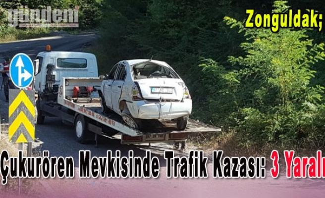 Çukurören Mevkisinde Trafik Kazası: 3 Yaralı