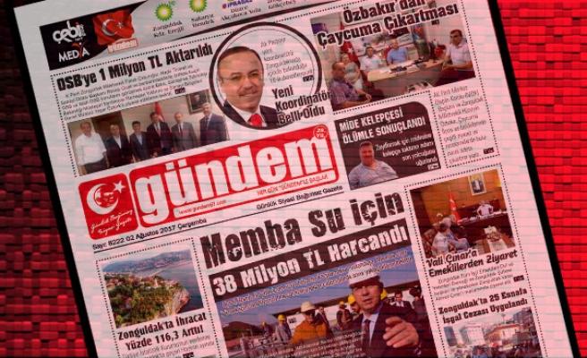02 Ağustos  2017 Gündem Gazetesi