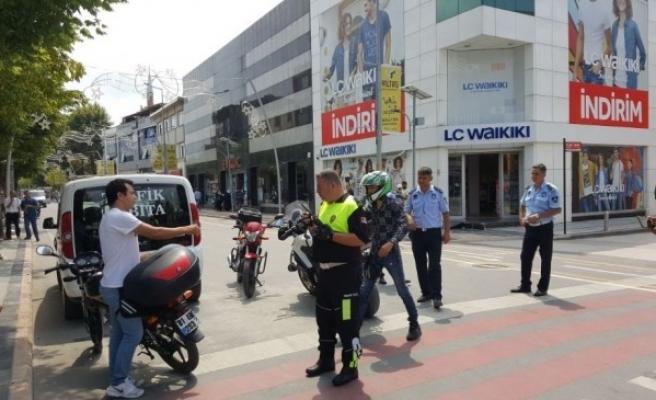Polis ve Zabıtadan  Ekipleri Trafik Denetimi