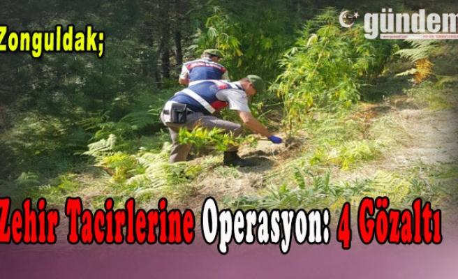 Zonguldak'ta Zehir Tacirlerine Operasyon: 4 Gözaltı