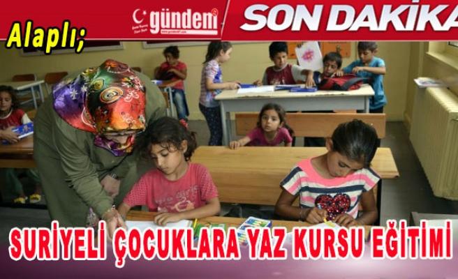 Alaplı'da Suriyeli Çocuklara Yaz Kursu Eğitimi