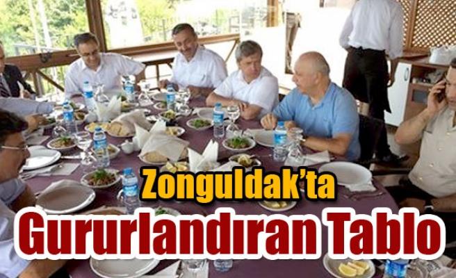 Zonguldak'ta gururlandıran tablo