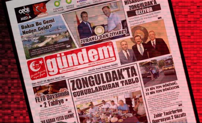 08 Ağustos 2017 Gündem Gazetesi