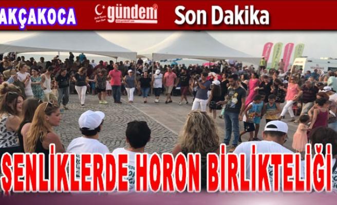 Akçakoca'da Şenliklerde Horon Birlikteliği
