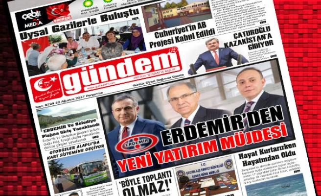 10 Ağustos 2017 Gündem Gazetesi