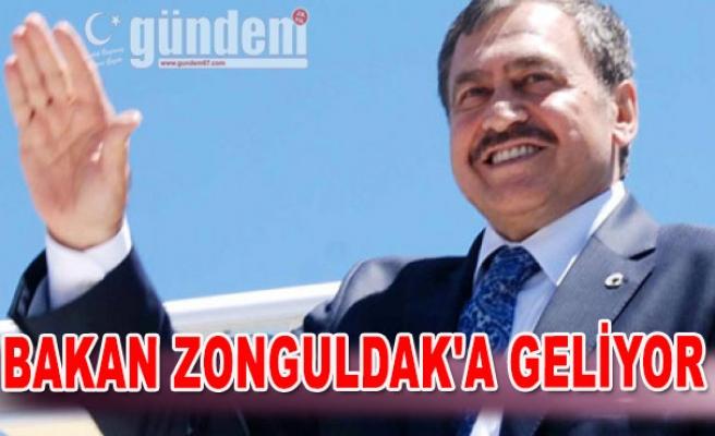 Bakan Zonguldak'a geliyor