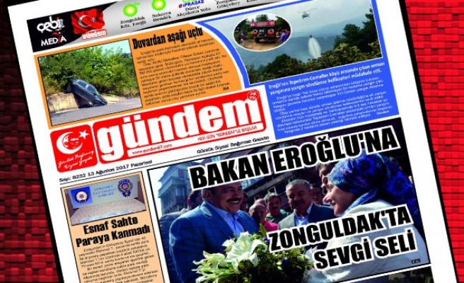 14 Ağustos 2017 Gündem Gazetesi