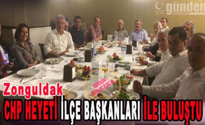 CHP Heyeti İlçe Başkanları İle Buluştu
