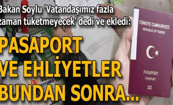 Ehliyet ve pasaportu nüfus daireleri verecek