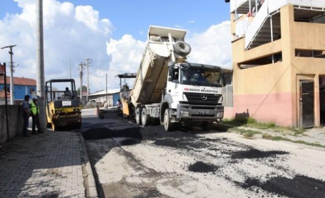 Dereli Tütüncü ve Çay mahallelerinde eş zamanlı asfaltlama
