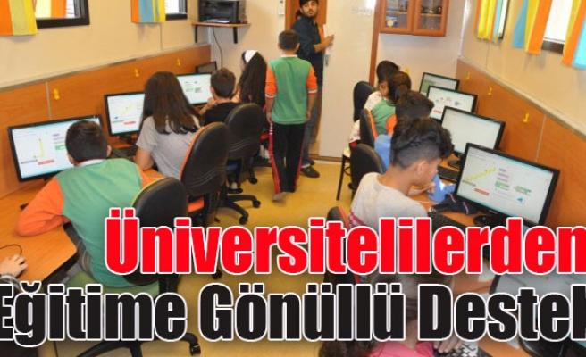 Üniversitelilerden eğitime gönüllü destek
