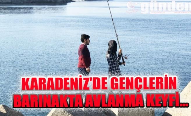 Karadeniz'de Gençlerin barınakta avlanma keyfi...