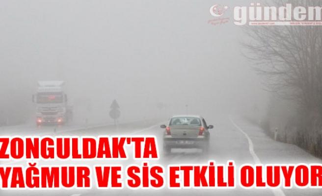 Zonguldak'ta Yağmur ve sis etkili oluyor