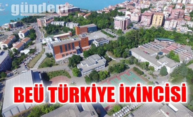 BEÜ Türkiye İkincisi...