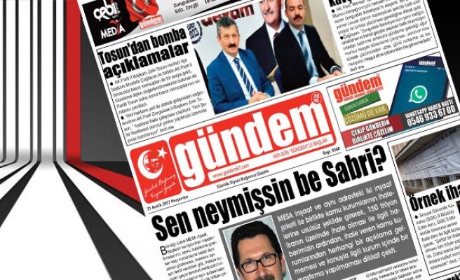 21 Aralık 2017 Gündem Gazetesi