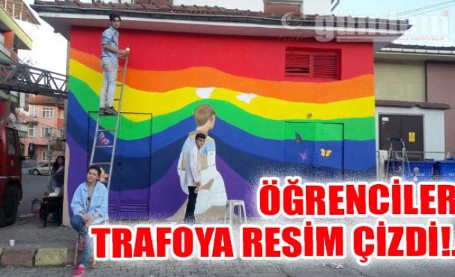 Öğrenciler Trafoya Resim Çizdi!..