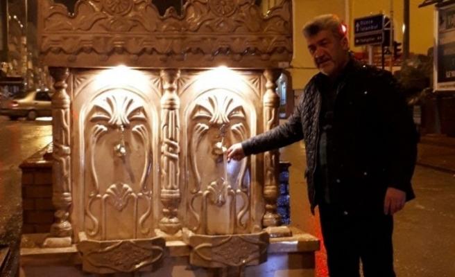 Yığılca Belediye Başkanı kent merkezine tarihi çeşmeler koydurttu